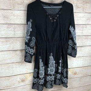 Just Love Black & White Dress